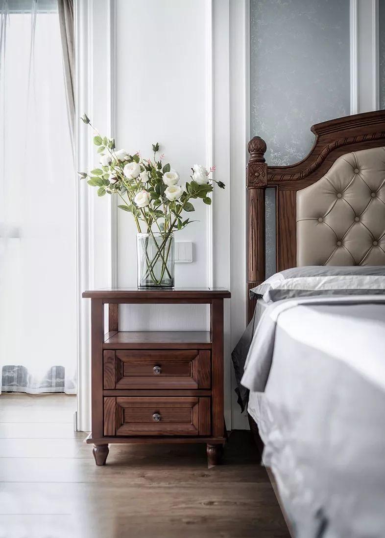 美式实木橱柜效果图 蓝色整体橱柜图片
