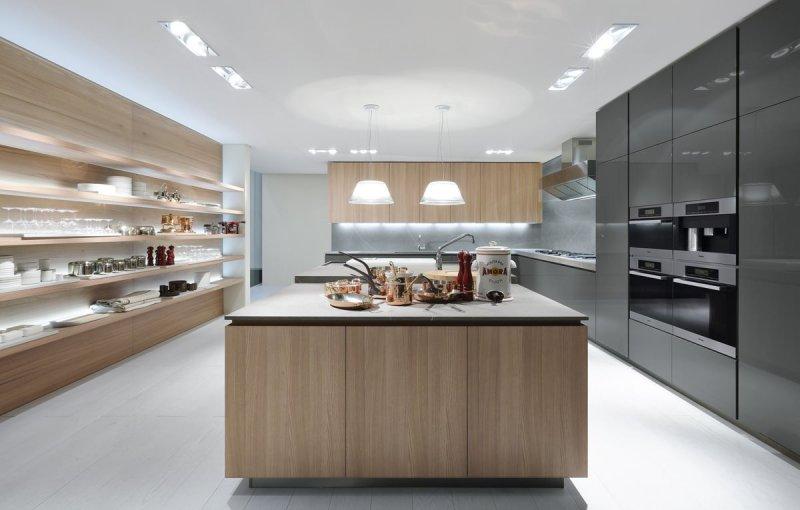 开放式橱柜效果图 白色厨房橱柜效果图