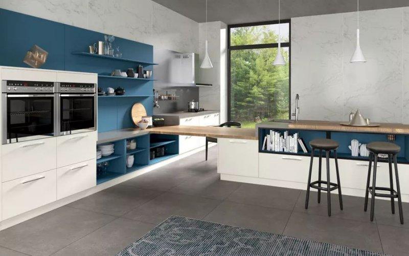 蓝色橱柜图片大全 现代风格橱柜效果图