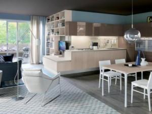迪凯诺整体厨柜效果图 原木色开放式厨柜图片