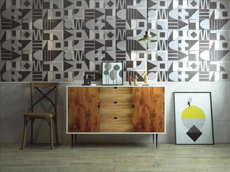 美式實木櫥柜設計效果圖 灰色櫥柜門圖片
