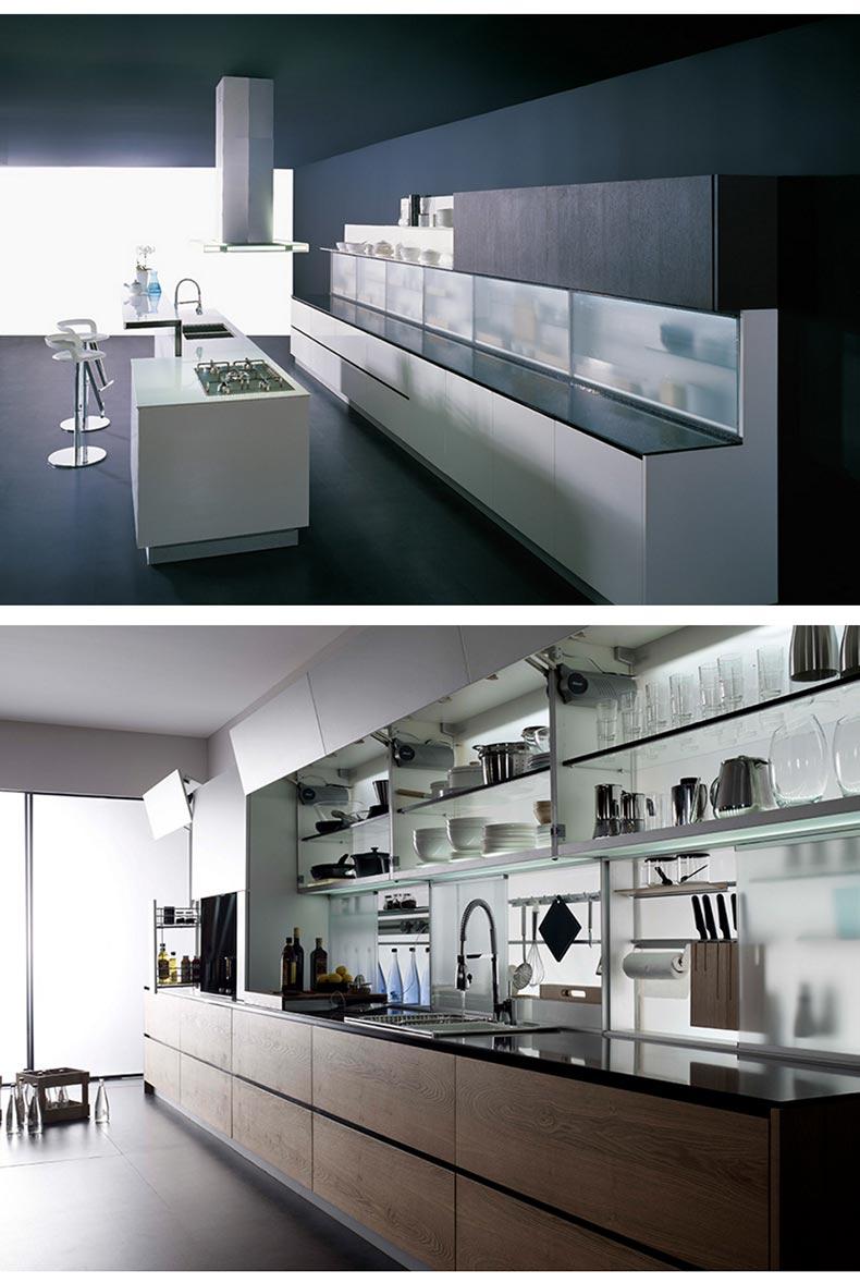 博洛尼橱柜图片 现代风格整体厨房橱柜效果图