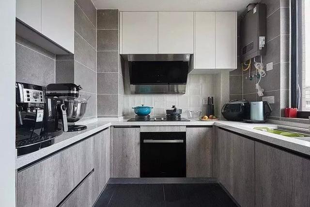 淺灰色廚房效果圖 北歐風櫥柜效果圖