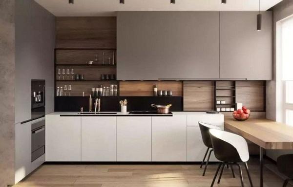 博西尼橱柜图片 博西尼专配集成灶产品厨房装修效果图