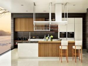 万格丽不锈钢整体厨房图片 现代风格岛台橱柜效果图 风逸系列