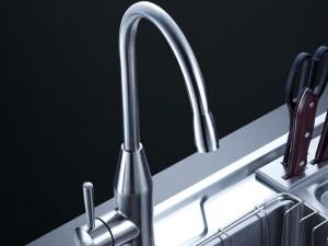 阿发厨具图片AF-7549 现代风格厨房水槽效果图