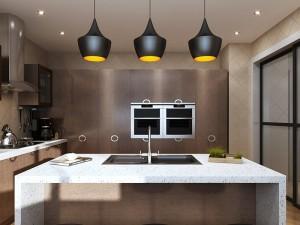左尚明舍橱柜图片 现代厨房整体定制橱柜效果图