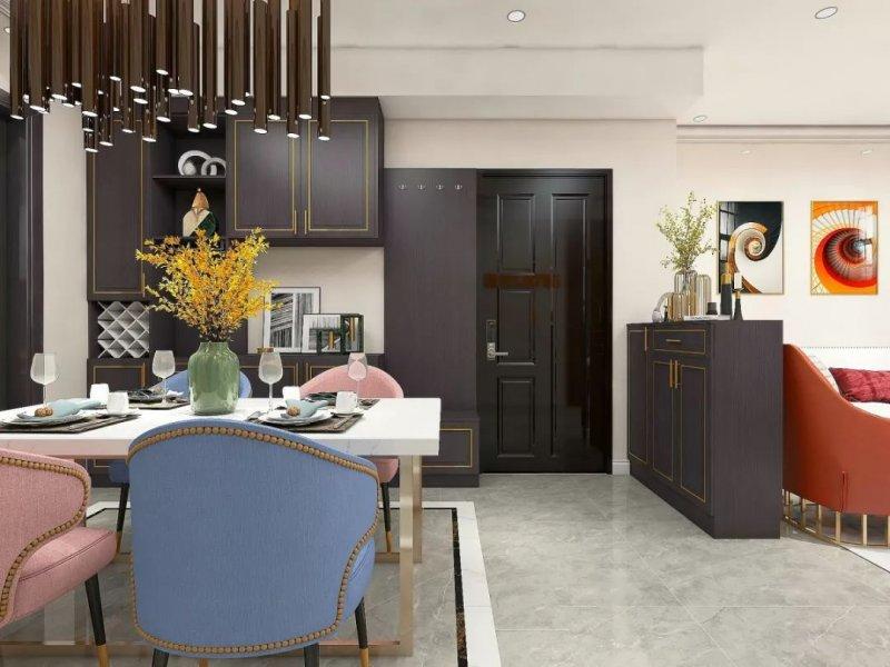 白色厨柜装修效果图 轻奢风大厨房图片