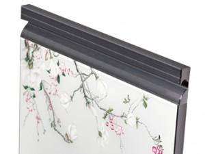康和源晶钢门图片清灰 晶钢拉手效果图