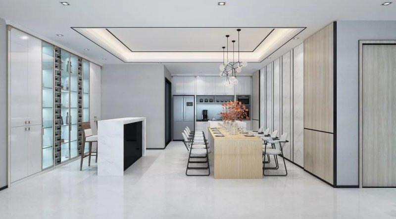 簡約風廚房櫥柜效果圖 白色櫥柜門圖片