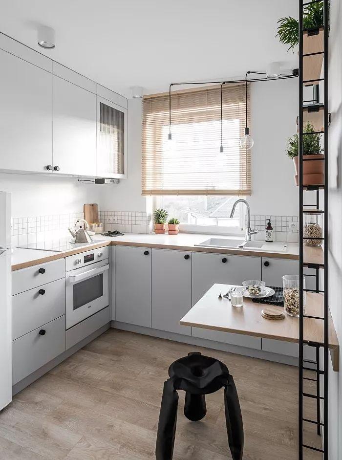 灰色廚柜裝修效果圖 開放式廚房圖片大全