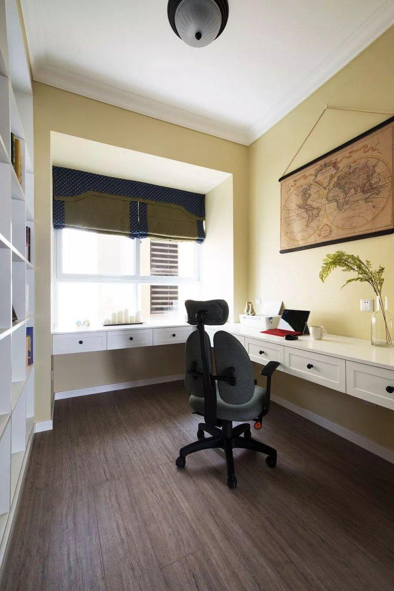 美式風格實木櫥柜效果圖 白色櫥柜門圖片