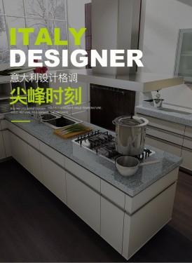 博洛尼橱柜图片 白色开放式橱柜效果图