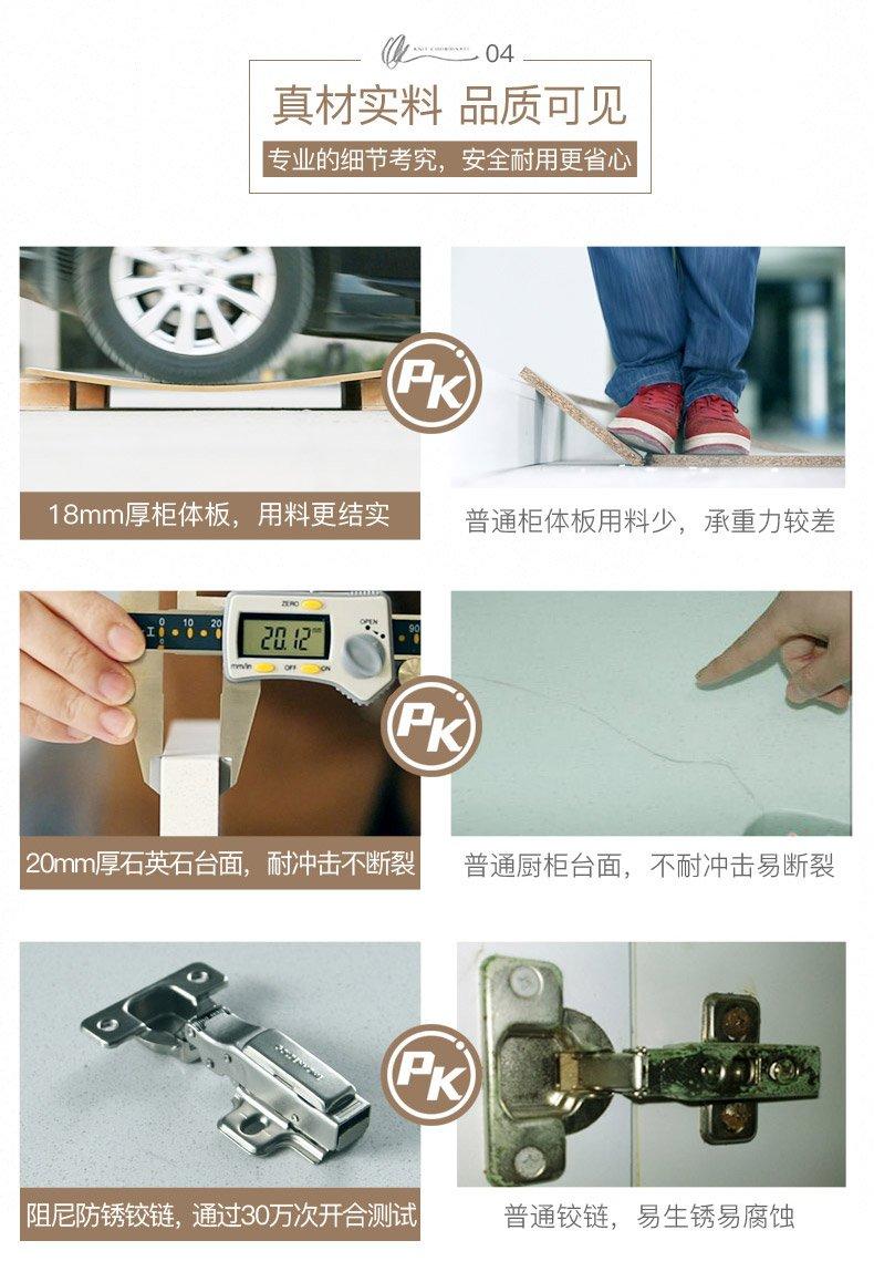 金牌厨柜效果图 枫之木语2简约风格厨房橱柜图片