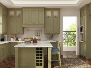 OLO我乐厨柜-全屋定制图片 西雅图系列欧式雅致橱柜效果图