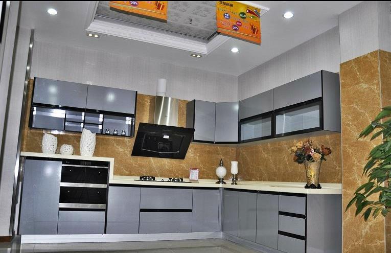 铝管家铝合金橱柜图片 现代风格铝合金橱柜效果图
