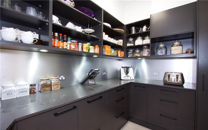 愷薩金石石英石圖片 黑森林白石英石廚房裝修效果圖