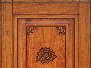 豪泰橱柜门板图片佛莲 实木系列橱柜门板效果图