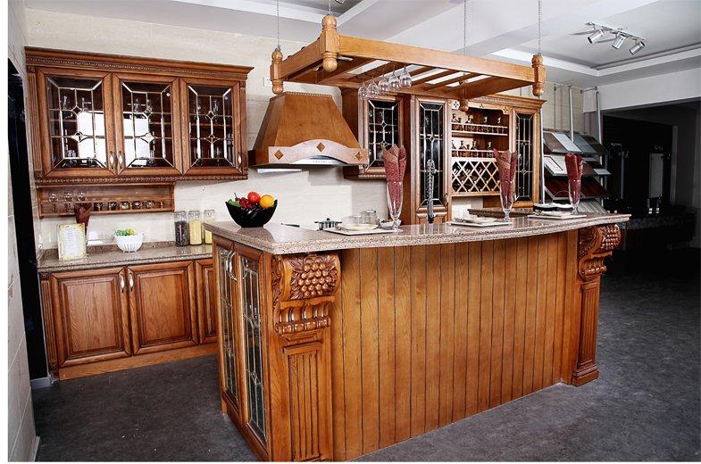欧誉厨柜图片实木系列 欧式风格橱柜效果图
