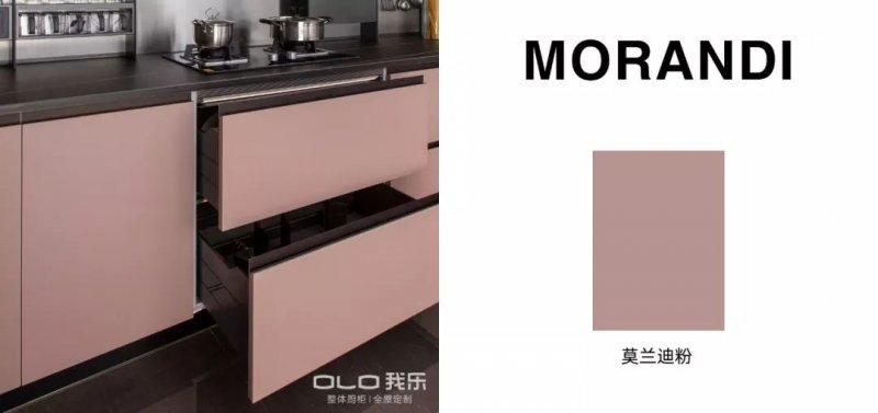 我乐厨柜图片莫兰迪系列  现代风格橱柜效果图