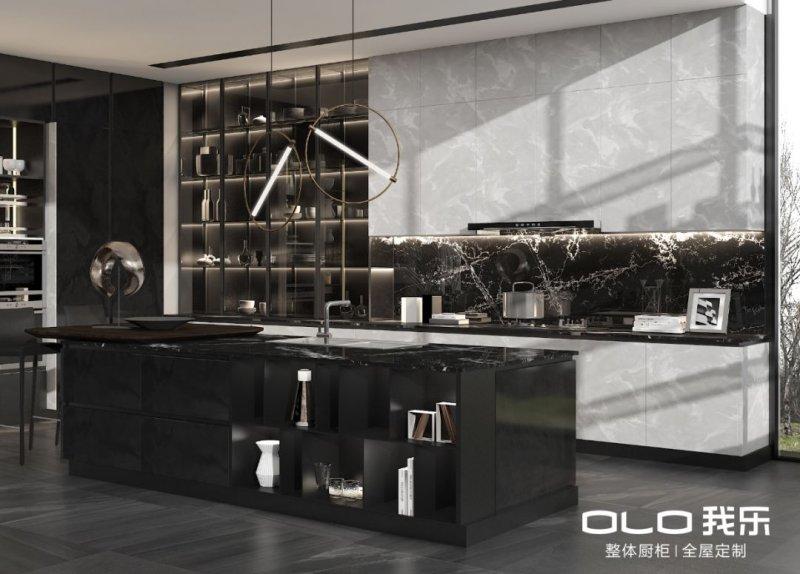我乐厨柜图片星云系列 现代简约风格橱柜效果图