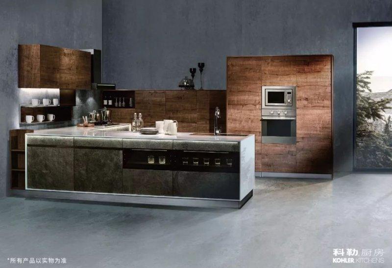 科勒橱柜图片克莱斯顿系列 工业风格整体橱柜效果图