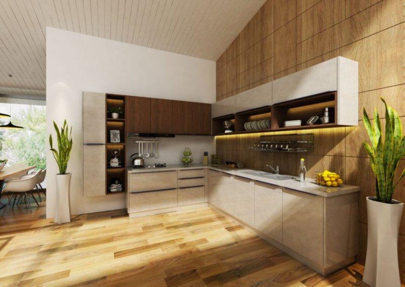 欧意厨柜|全屋定制图片 现代简约风格橱柜效果图