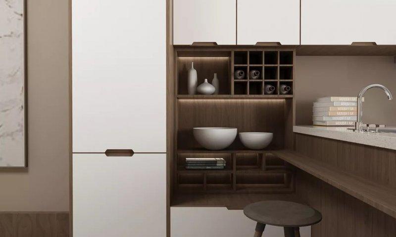 东方邦太橱柜图片可可晶莹系列设计 现代简约风格橱柜效果图
