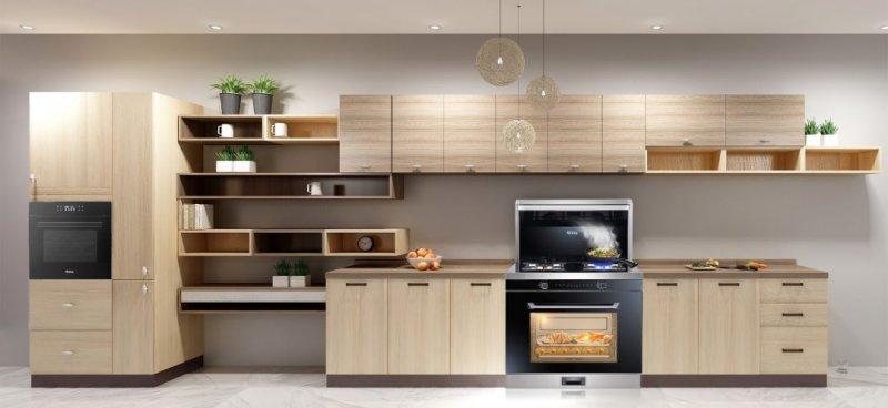 蓝炬星集成灶图片 蓝炬星V5-ZK蒸烤箱款集成灶厨房装修效果图