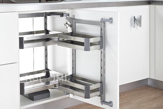诺米家居五金图片 特拉斯地柜联动拉篮厨房装修效果图