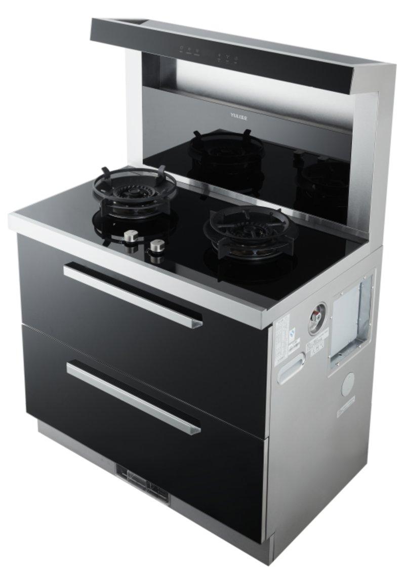 玉立集成灶图片 90L16集成灶厨房装修效果图