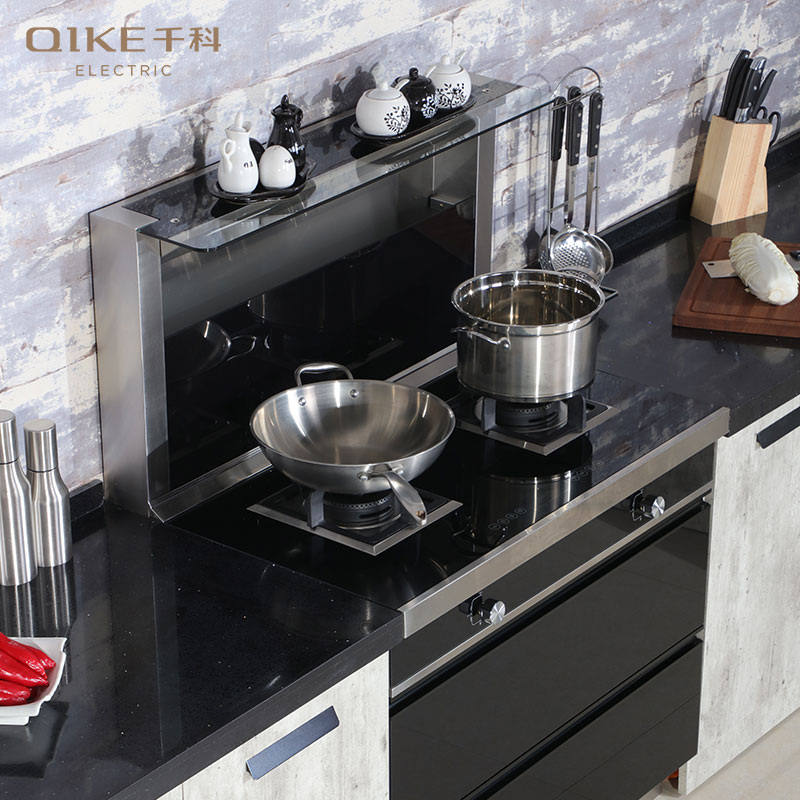 千科集成灶图片 一体家用集成灶厨房装修效果图 _5