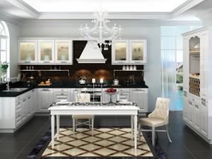 易佰利厨柜图片YBL025 欧式风格橱柜效果图