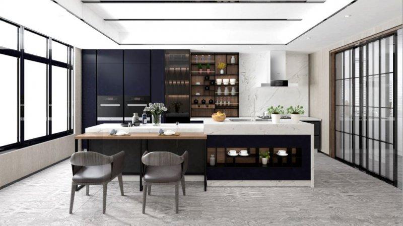 安泊厨柜|全屋定制图片 轻奢风格橱柜效果图