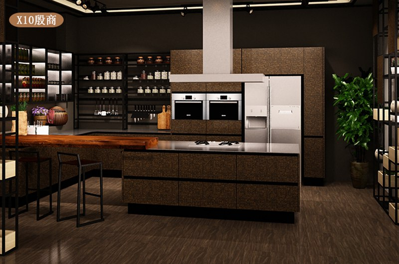 法迪奥不锈钢艺术厨柜 殷商系列产品效果图