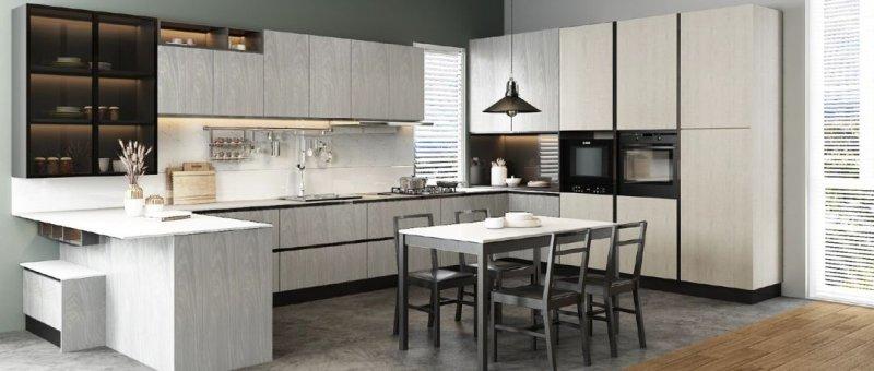 好兆头厨柜图片贝达BET系列 轻奢风格橱柜效果图