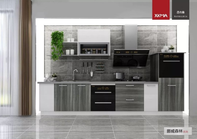 西卡曼厨柜图片 现代简约风格橱柜效果图