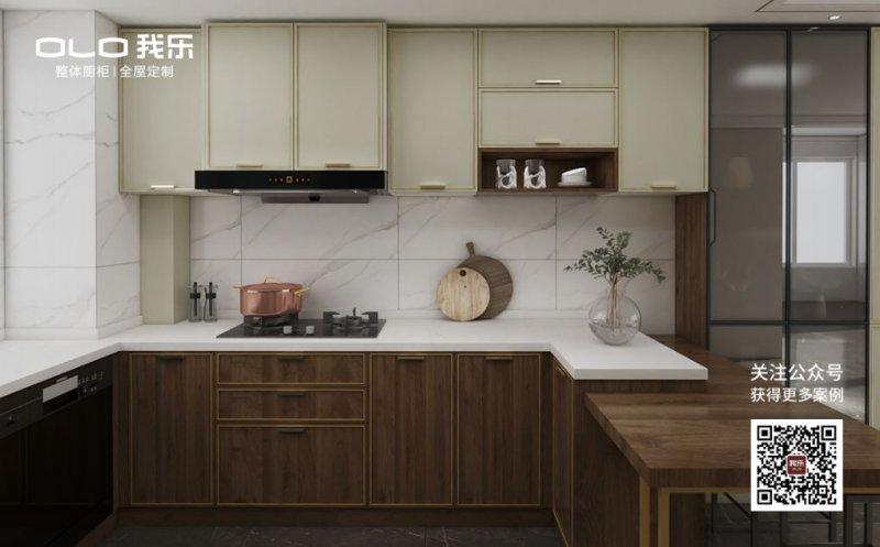 我乐厨柜图片 现代轻奢风格橱柜效果图