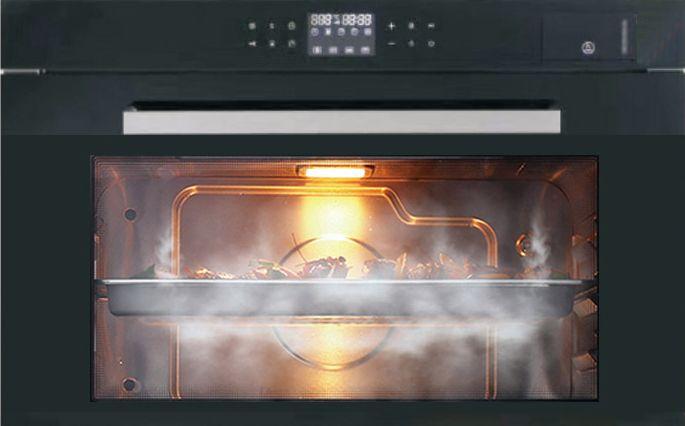 美浩集成灶图片 嵌入式蒸烤箱装修效果图