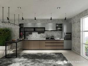 卡利亚不锈钢厨柜图片亚平宁系列 轻奢风格橱柜效果图