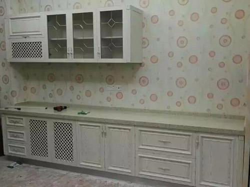 欧铝橱柜图片 欧式田园风格橱柜效果图