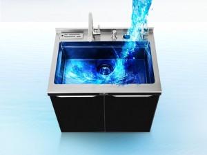 亿田集成灶图片 厨房多功能集成水槽水池一体式整体橱柜装修效果图