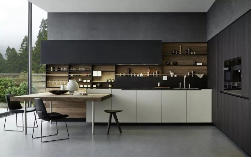 澳比德全屋定制图片 厨房吧台装修效果图