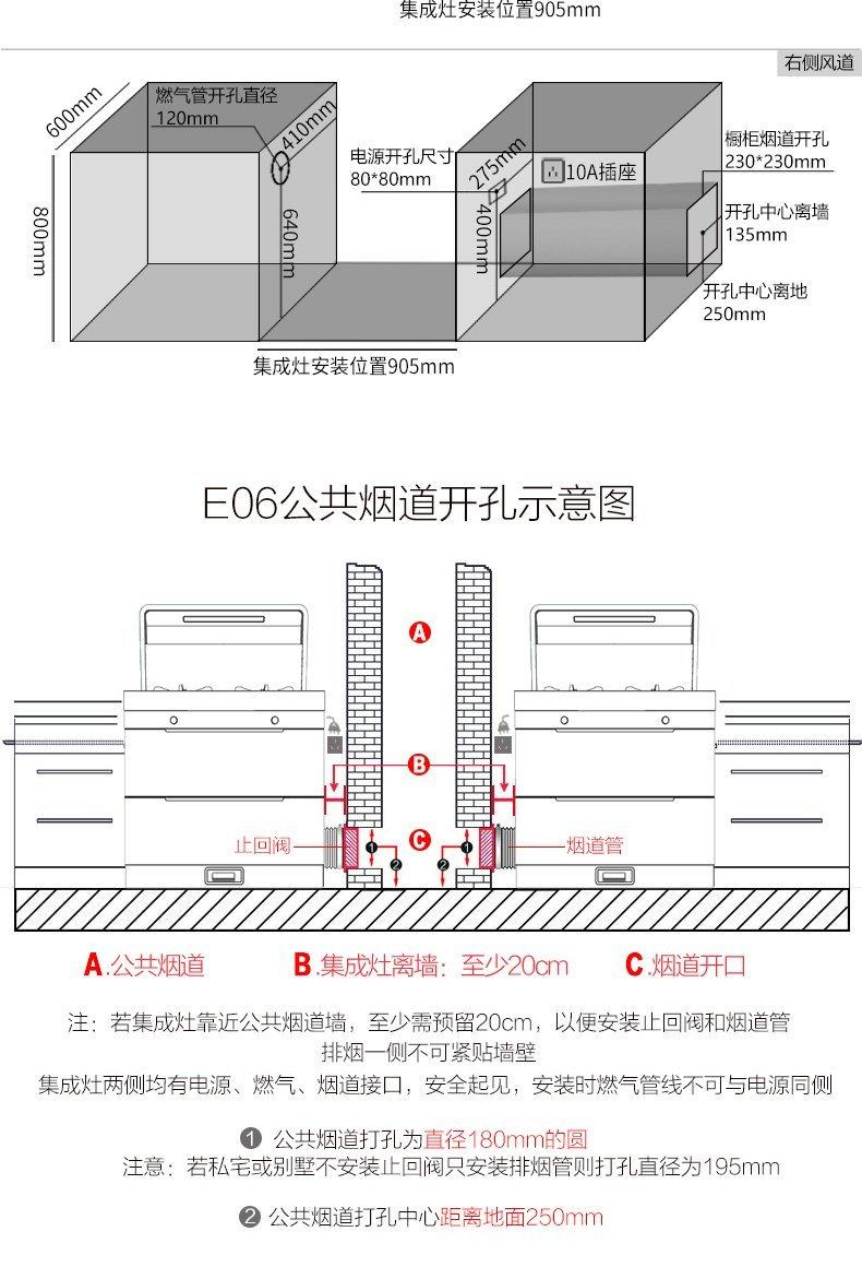 奥田集成灶图片 E06风神集成灶环保灶装修效果图