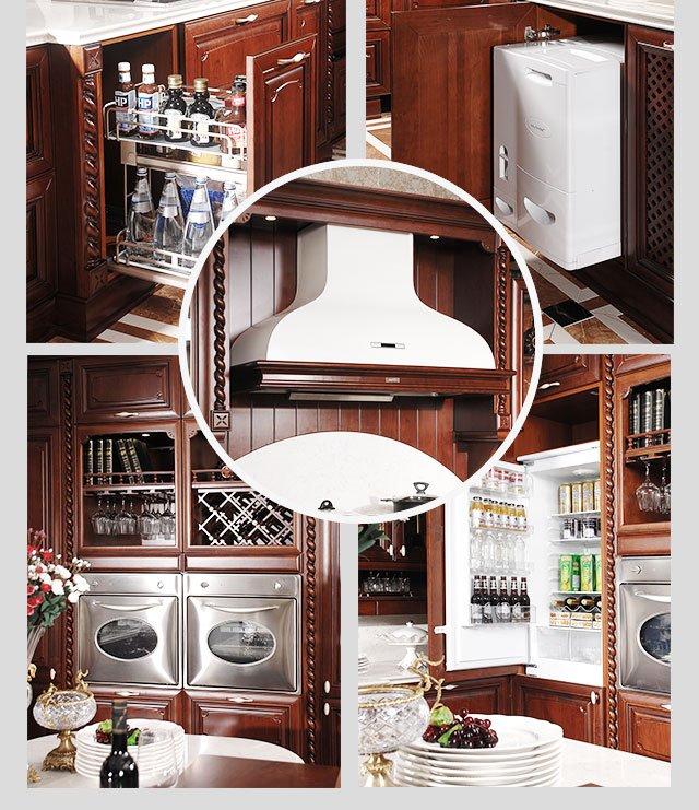 金牌厨柜图片 实木厨柜索妮亚装修效果图_8