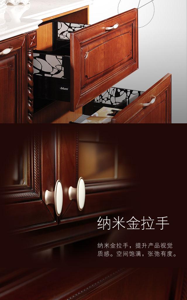 金牌厨柜图片 实木厨柜索妮亚装修效果图_5