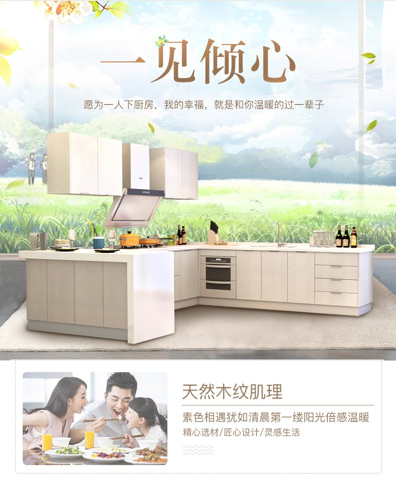 金牌厨柜图片 整体厨房橱柜定做装修效果图