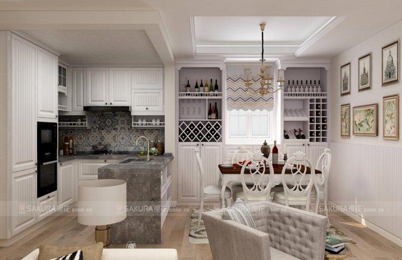 樱花整体厨房·衣柜 欧式系列 安纳西 产品效果图