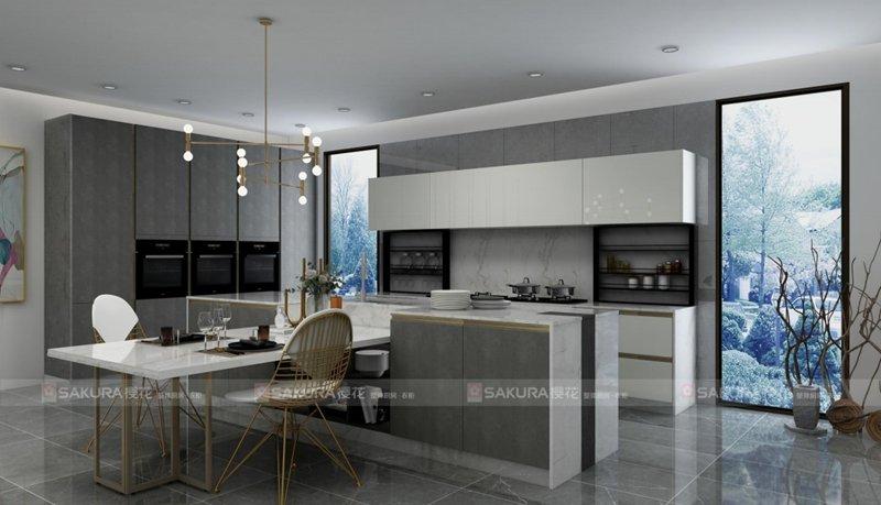 樱花整体厨房·衣柜 意式轻奢系列 总裁星厨 产品效果图