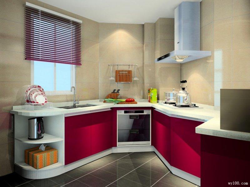 维意定制图片 U型厨房装修效果图